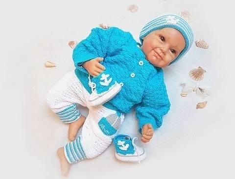Häkelanleitung Babyset ~ Ahoi ~ Größe 50 - 68 bei Makerist sofort runterladen