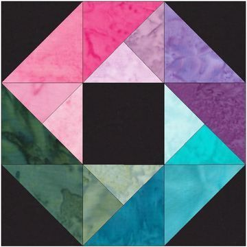 Download 10 Inch HC Rainbow Ring Paper Piecing Foundation Quilting Pattern - Patchwork & Quilting immediately at Makerist