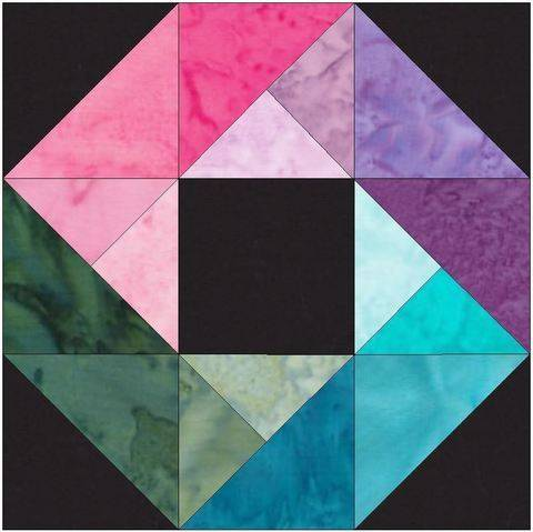 Download 10 Inch HC Rainbow Ring Paper Piecing Foundation Quilting Pattern immediately at Makerist