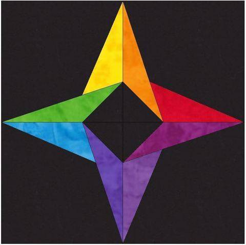 Download 15 Inch incredible Rainbow Star Template Block Quilting Pattern immediately at Makerist
