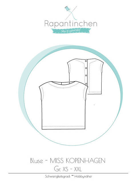 Ebook Bluse MISS KOPENHAGEN bei Makerist sofort runterladen