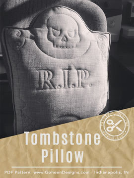 Download R.I.P. Tombstone Pillow - Halloween Sewing Pattern and Instructions - Sewing Patterns immediately at Makerist