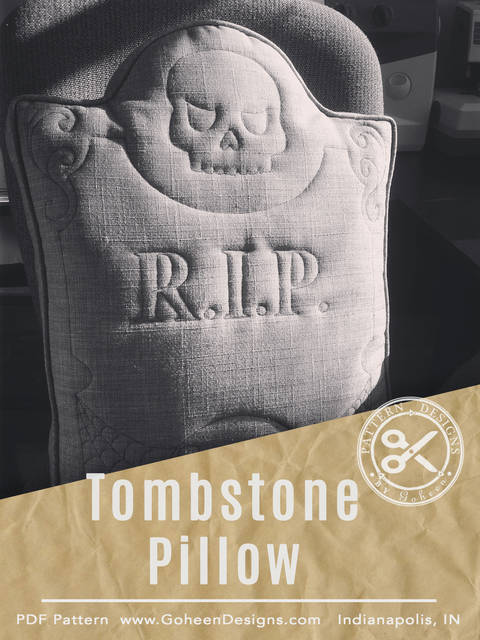 Download R.I.P. Tombstone Pillow - Halloween Sewing Pattern and Instructions immediately at Makerist