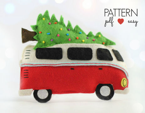 Download VW Bus Camper Christmas Ornament Pattern - Sewing Patterns immediately at Makerist