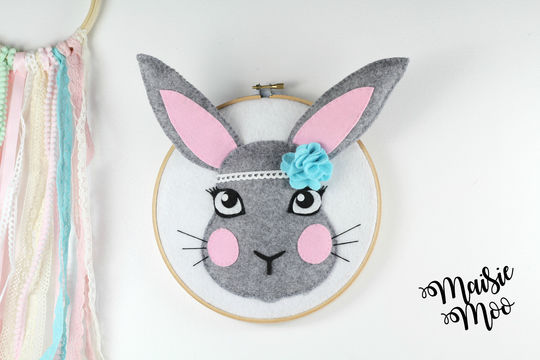 Download Bunny Baby Nursery Decor Art Pattern - Faux Taxidermy - Sewing Patterns immediately at Makerist