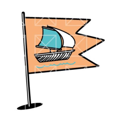 Fahnen - das Segelboot - plotterdatei bei Makerist sofort runterladen