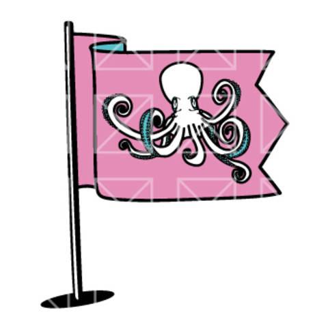 Fahnen - Octopus - plotterdatei bei Makerist sofort runterladen