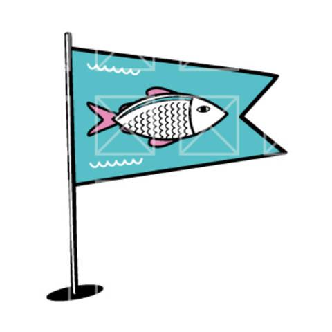 Fahnen - Fisch - plotterdatei bei Makerist sofort runterladen