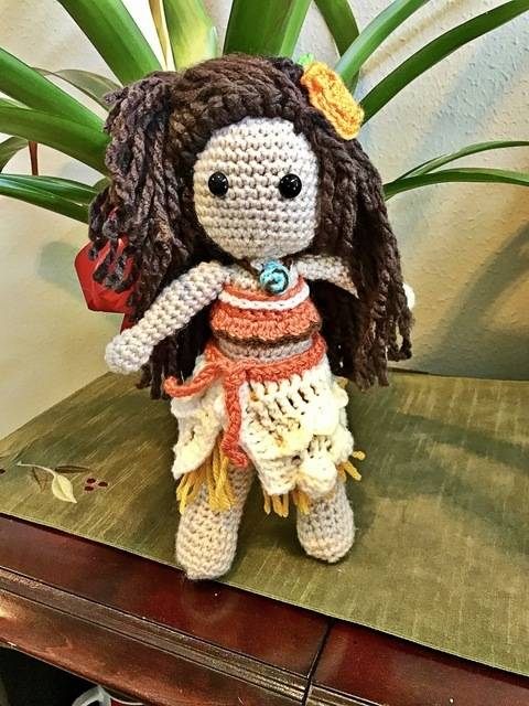 Download Moana Princess Doll Pattern immediately at Makerist