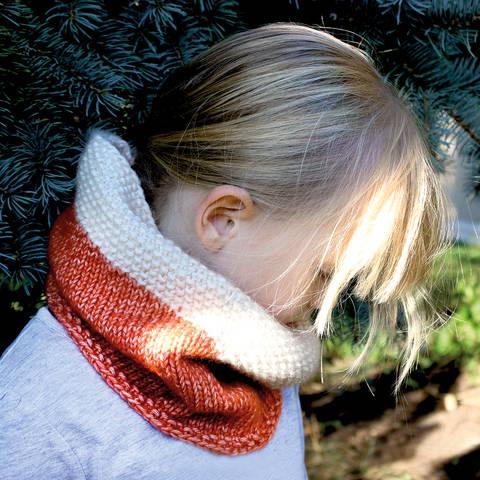 Loop für Kinder Fuchs - Strickanleitung, einfach und schnell, Größe Kind 4-6 Jahre bei Makerist sofort runterladen