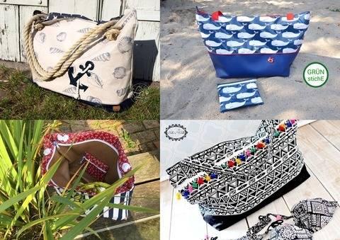 "Bade-/Strandtasche ""PINETA"" /LARGE & MEDIUM (Kombi) bei Makerist sofort runterladen"