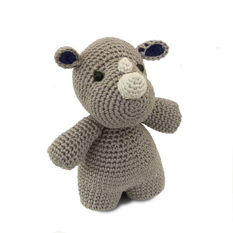 Otto le Rhino - tutoriel de crochet chez Makerist