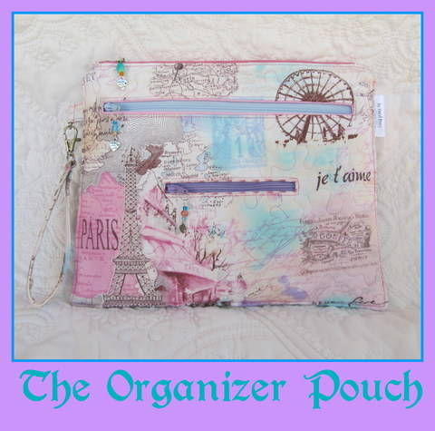 Download Organizer Pouch~ A Bag with 5 zippered Pockets immediately at Makerist