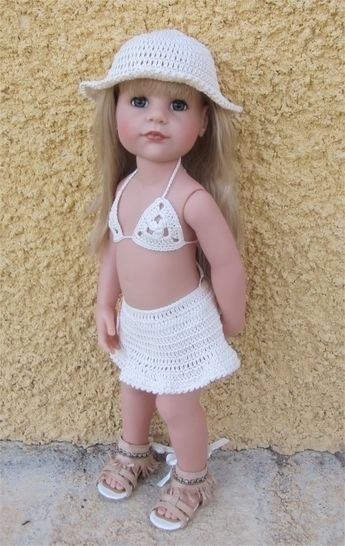 Download Beach wear : crochet outfit for 45-55 cm doll - Crochet Patterns immediately at Makerist