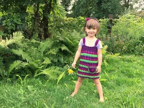 Häkelanleitung Kinderkleid FRÜCHTCHEN bei Makerist sofort runterladen