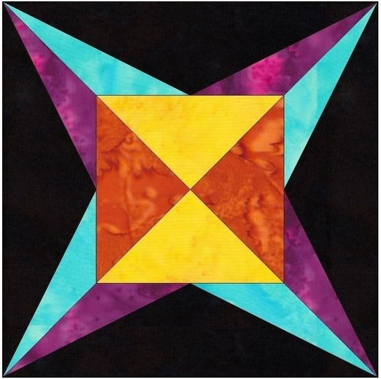 Download Flame Star 6 Inch Paper Piecing Foundation Quilting Block Pattern - Patchwork & Quilting immediately at Makerist
