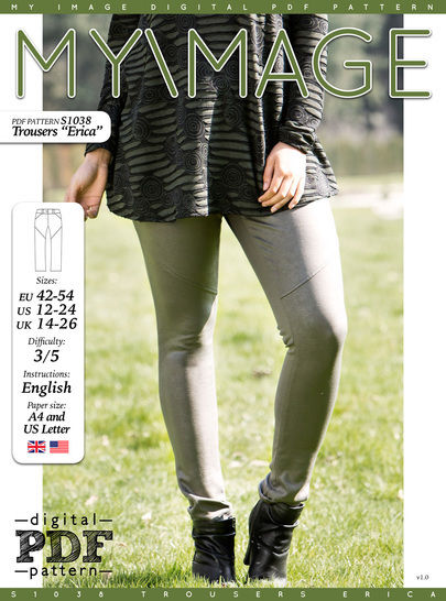 Download Trousers ERICA PDF Pattern + Tutorial - Sewing Patterns immediately at Makerist