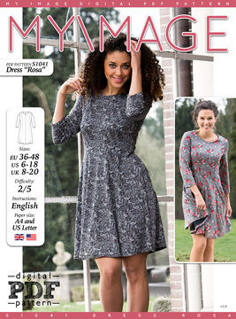 Download Dress ROSA PDF Pattern + Tutorial - Sewing Patterns immediately at Makerist