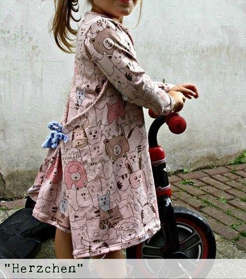 Herzchen Ebook, Shirt/ Kleid Gr.62/68-134/140 - Nähanleitungen bei Makerist sofort runterladen