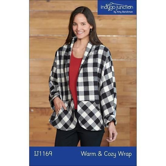 Download Warm & Cozy Wrap Digital PDF Sewing Pattern - easy sewing or serging instructions fits SM - 3X - Sewing Patterns immediately at Makerist
