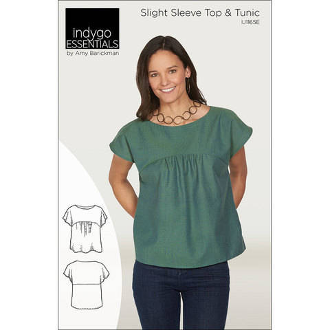 Download Indygo Essentials: Slight Sleeve Top & Tunic Digital PDF Sewing Pattern - perfect for a capsule wardrobe Size SM - 3X immediately at Makerist