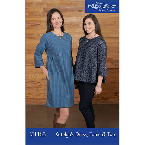 Download Katelyn's Dress, Tunic & Top Digital PDF Sewing Pattern - three lengths in one, with optional hidden pocket, fits XS - 3X immediately at Makerist
