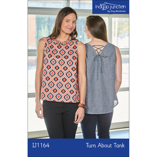 Download Turn About Tank Digital PDF Sewing Pattern - Four Ways to Wear! V-neck or circle, laces or ruffles. - Sewing Patterns immediately at Makerist