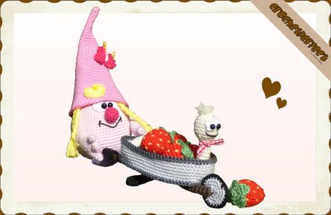Häkelanleitung (064): Erdbeer-Lotti bei Makerist sofort runterladen