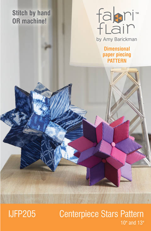 Download Fabriflair™ Centerpiece Stars Digital PDF Pattern - dimensional paper piecing project instructions immediately at Makerist