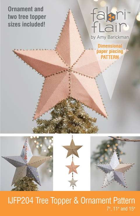 Download Fabriflair™ Tree Topper & Ornament Digital PDF Pattern — dimensional paper piecing project instructions immediately at Makerist