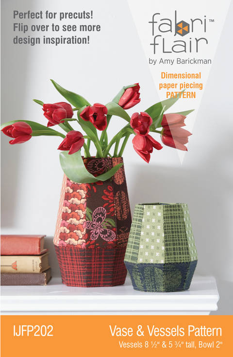 Download Fabriflair™ Vase & Vessels Fabriflair Digital PDF Pattern — dimensional paper piecing project instructions immediately at Makerist