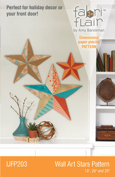 Download Fabriflair™ Wall Art Star Digital PDF Pattern — dimensional paper piecing project instructions and pattern - Sewing Patterns immediately at Makerist