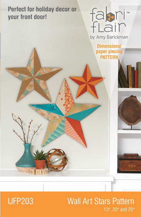 Download Fabriflair™ Wall Art Star Digital PDF Pattern — dimensional paper piecing project instructions and pattern immediately at Makerist