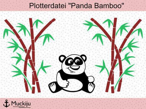 """Plotterdatei """"Panda Bamboo"""" bei Makerist sofort runterladen"""
