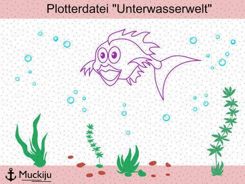 """Plotterdatei Set """"Unterwasserwelt"""" bei Makerist sofort runterladen"""