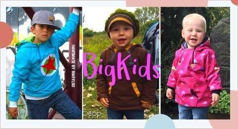 Schlupfjacke Ronia - Schnittmuster BIG KIDS Anorak 117-176 bei Makerist sofort runterladen