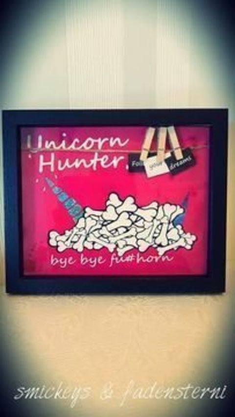 Plotterdatei Unicorn & Flamingo Hunter bei Makerist sofort runterladen