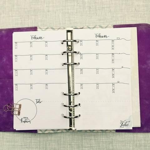 Kalender 2018, PDF zum ausdrucken, Einlagen Größe Personal, Passend zu Keep on dreaming bei Makerist sofort runterladen