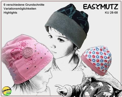 EasyMutz KU 28-68 Sechs Grundschnitte, von enganliegenden Mutz bis hin zur BeanieMutz KÄSMUTZ bei Makerist sofort runterladen