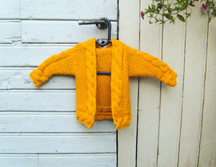 Download Baby Hooded Cardigan Cabled Zip Hoodie - Knitting Patterns immediately at Makerist