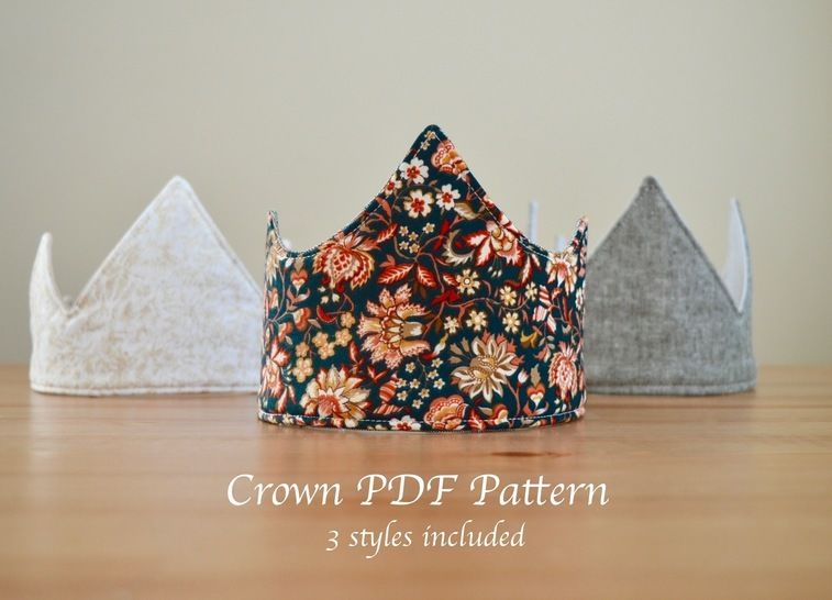 Download Fabric Crown Pattern! 3 Unique Styles - Sewing Patterns immediately at Makerist