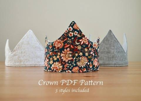 Download Fabric Crown Pattern! 3 Unique Styles immediately at Makerist