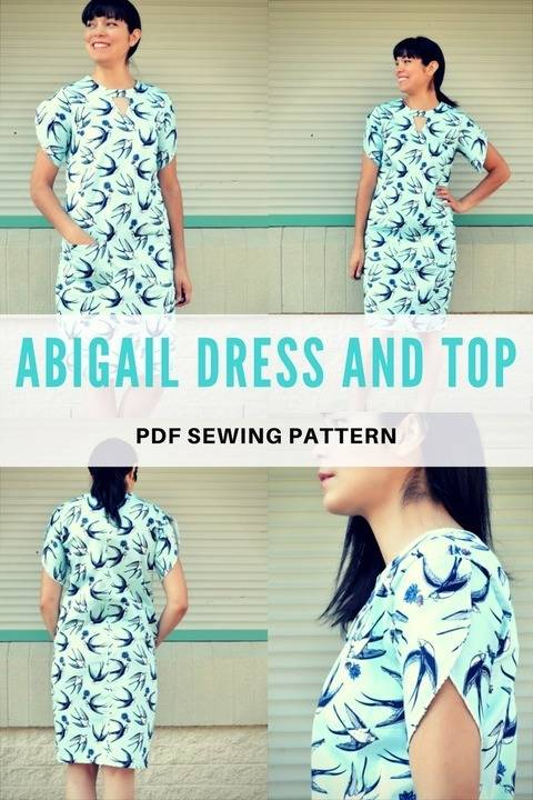 Download The Abigail Dress and Top PDF sewing pattern immediately at Makerist