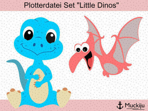 "Plotterdatei ""Little Dinos"" bei Makerist sofort runterladen"