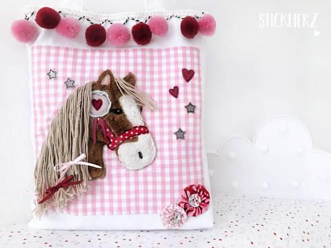 Stickdatei Pony Lulu 13x18 bei Makerist sofort runterladen