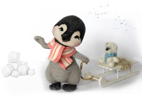 Häkelanleitung Lina, das Pinguin Mädchen bei Makerist sofort runterladen