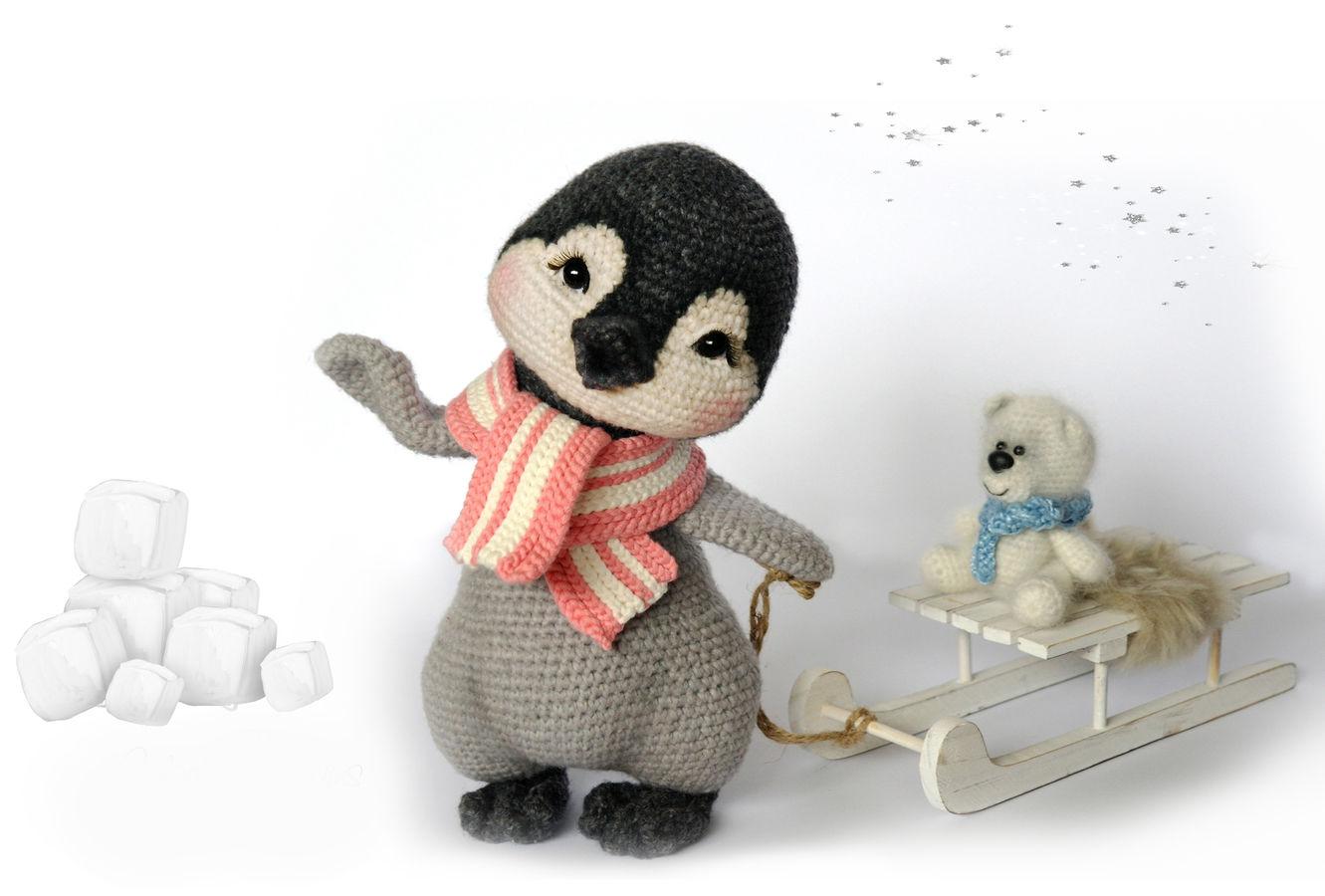 Häkelanleitung Lina, das Pinguin Mädchen