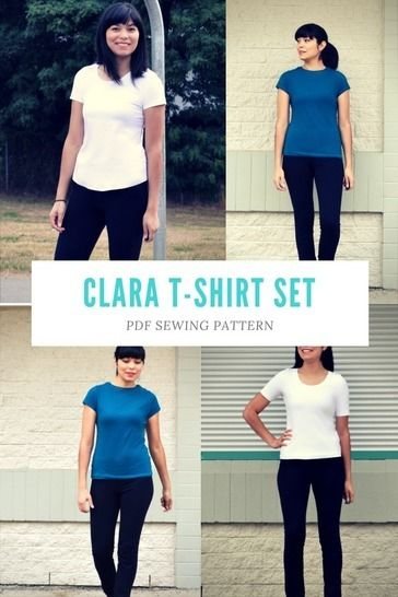 Download Clara T-shirt Set PDF sewing pattern - Sewing Patterns immediately at Makerist