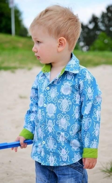 Schnittmuster Hemd langarm und kurzarm Hermann bei Makerist sofort runterladen