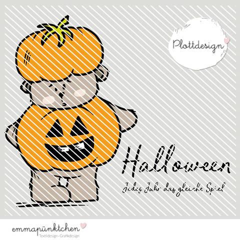 emmapünktchen ® - halloweenbär plottdesign bei Makerist sofort runterladen